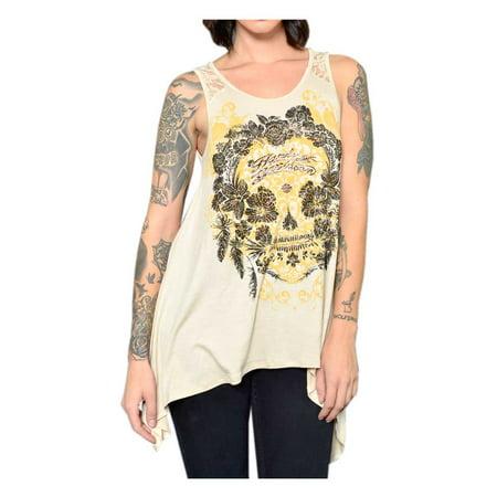 - Harley-Davidson Women's Floral Embellished Lace Back Sleeveless Tank Top, Harley Davidson