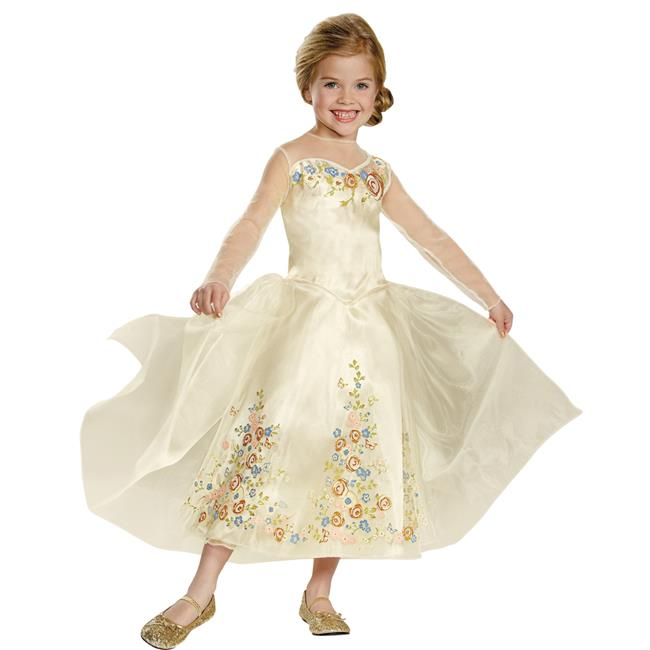 Morris Costumes DG87066M Cinderella Wedding Dress Costume, Size 3 - 4 Tall