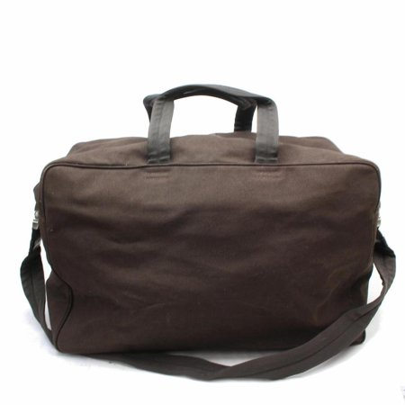 Prada Boston Duffle with Strap 869642 Brown Canvas Weekend/Travel Bag