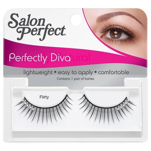 Salon Perfect Perfectly Diva Eyelashes, Flirty, 1 pr