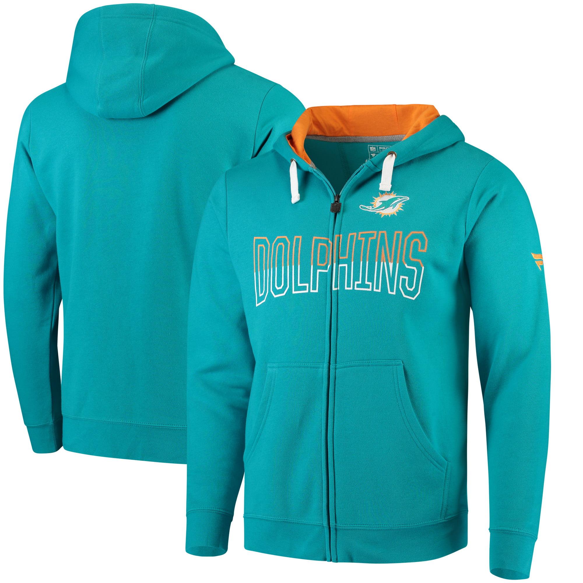 Miami Dolphins NFL Pro Line by Fanatics Branded Iconic Fleece Full-Zip Hoodie - Aqua - L