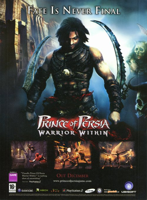 Prince Of Persia Warrior Within Movie Poster Style A 11 X 17 2005 Walmart Com Walmart Com