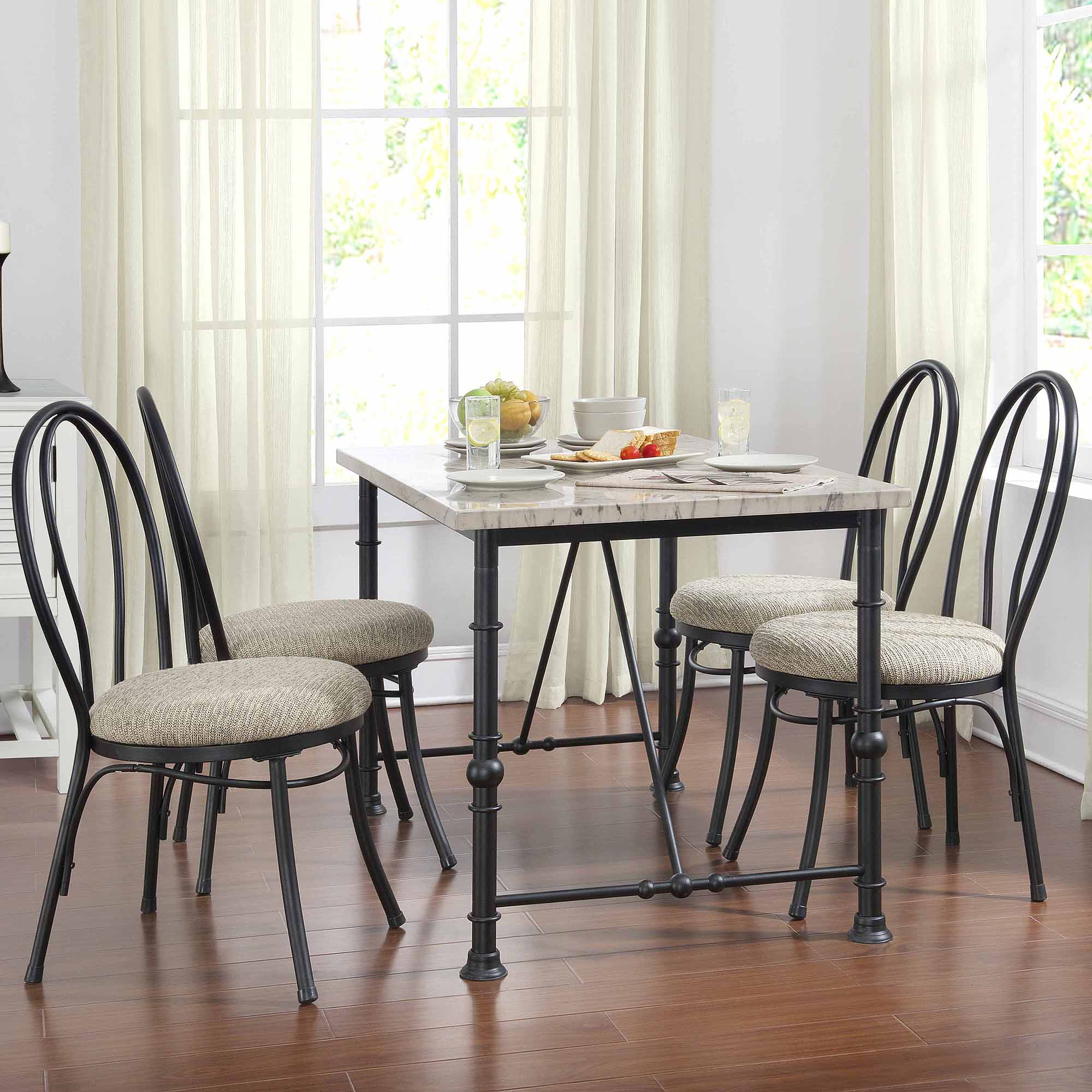 Merveilleux Dorel Asia 5 Piece Metal And Faux Marble Top Dining Set   Walmart.com
