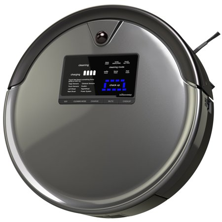bObsweep PetHair Plus Robotic Vacuum Cleaner and Mop - Gray
