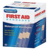 PHYSICIANSCARE Adhesive Bandage,Clear,Plastic,Box 90333G