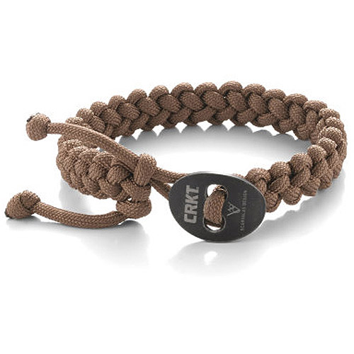 Columbia River Knife and Tool Scarvalas Quick Release Survival Bracelet, Large, Tan
