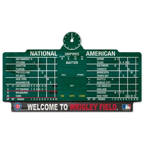 Chicago Cubs Official MLB 11 inch x 17 inch  Wood Sign by Wincraft
