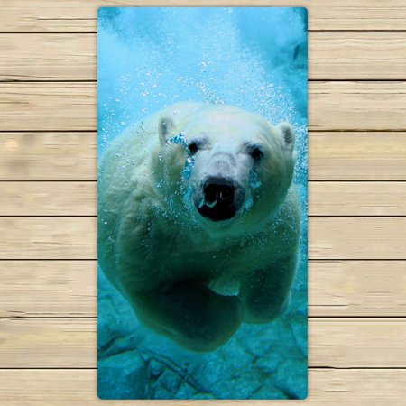 ZKGK Polar Bears Hand Towel Bath Towels Beach Towel For Home Outdoor Travel Use Size 30x56 Inches