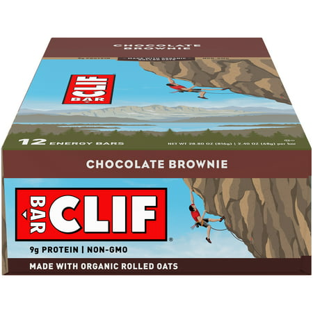 - CLIF Bar® Chocolate Brownie Energy Bars 12-2.4 oz. Bars