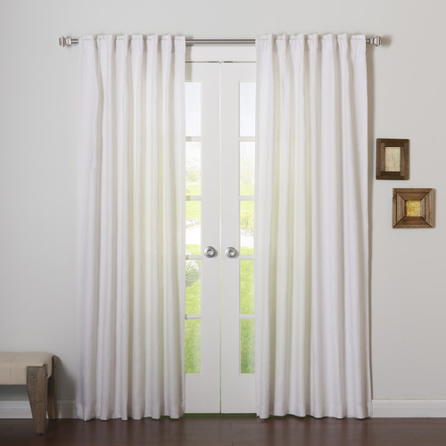 Best Home Fashion, Inc. Natalie Natural Linen Solid Semi-Sheer Rod Pocket Curtain Panels (Set of 2)