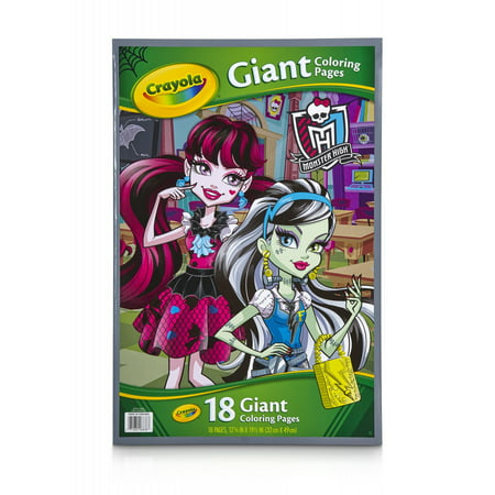 Crayola Monster High Giant Coloring Book, 18 Pages to Color ...