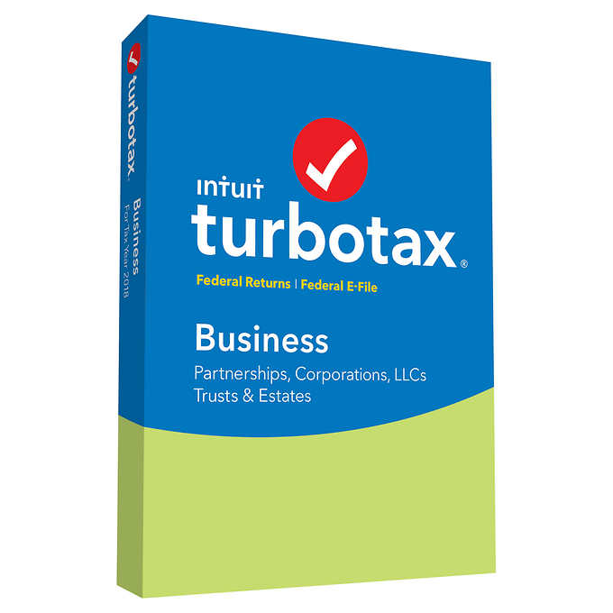 TurboTax Business Federal + Efile 2018  (PC/Mac Disc)