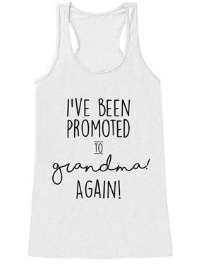 Custom Party Shop Women's Promoted to Grandma Pregnancy Announcement Tank Top - Small
