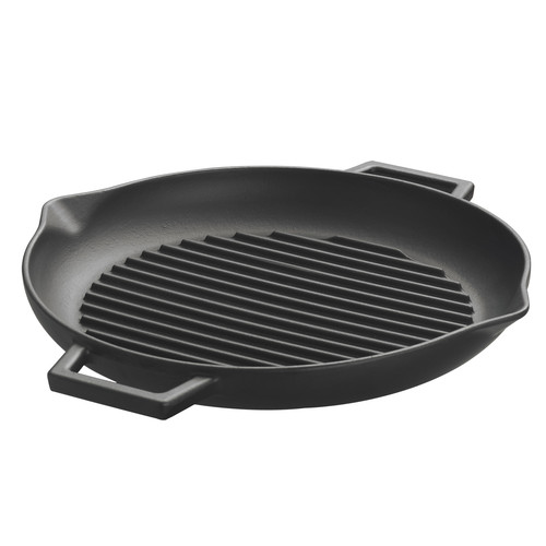 Lava Cookware ECO Enameled Cast-Iron 12'' Round Grill Pan