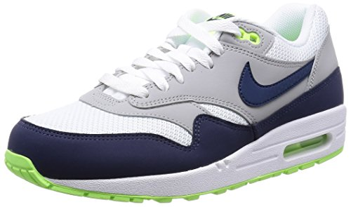 Nike - Nike Men's Air Max 1 Essential White/Mid Nvy/Flt Slvr/Ghst Gr Running Shoe 11 Men US - Walmart.com
