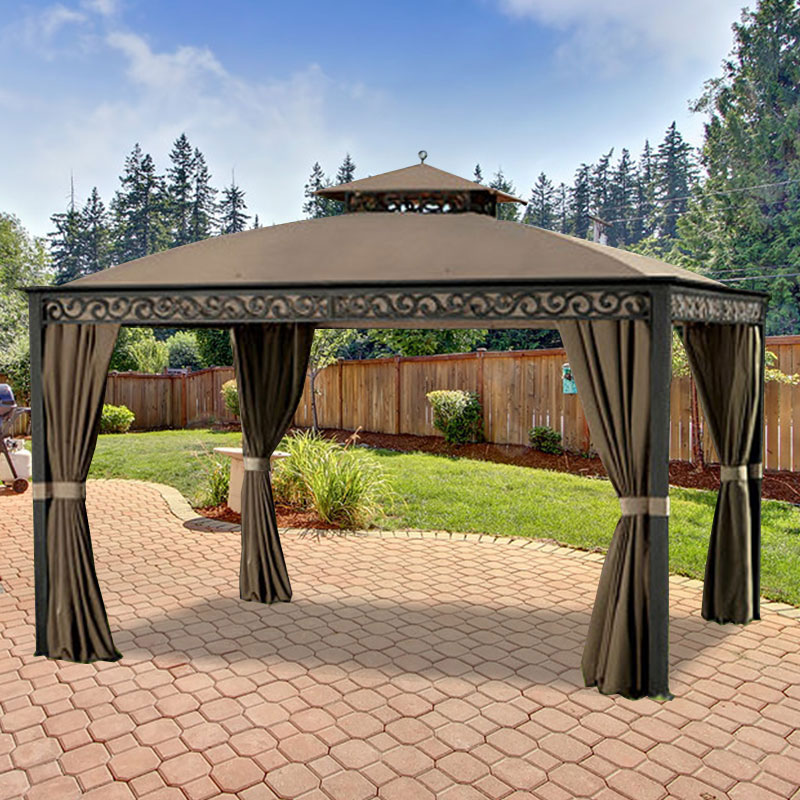 Garden Winds Replacement Canopy Top and Side Mosquito Netting Set for the