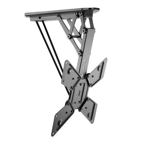Boost industries cm 2355m remote control motorized flip for Motorized ceiling flip down tv mount