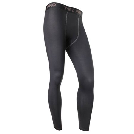 Tight Base Layer Bottom (Men Compression Base Layer Sports Long Tight Pants Running Workout Leggings)