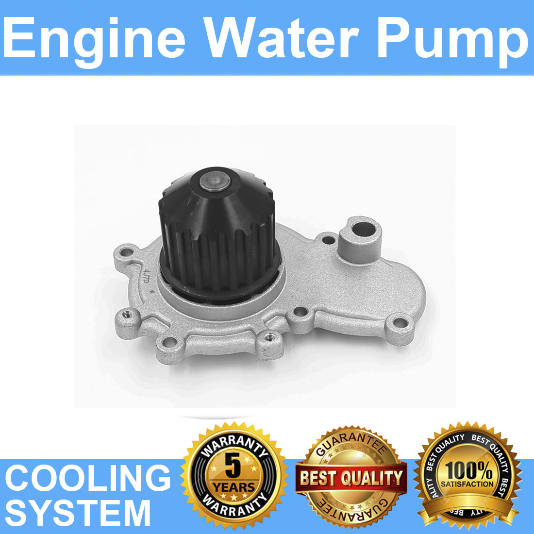 Engine Water Pump For 1995-1999 Mitsubishi Eclipse L4 2.0L 122cid by Bargain Outlet