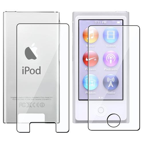 Insten 2-LCD Kit Reusable Screen Protector For Apple iPod nano 7 7th Generation