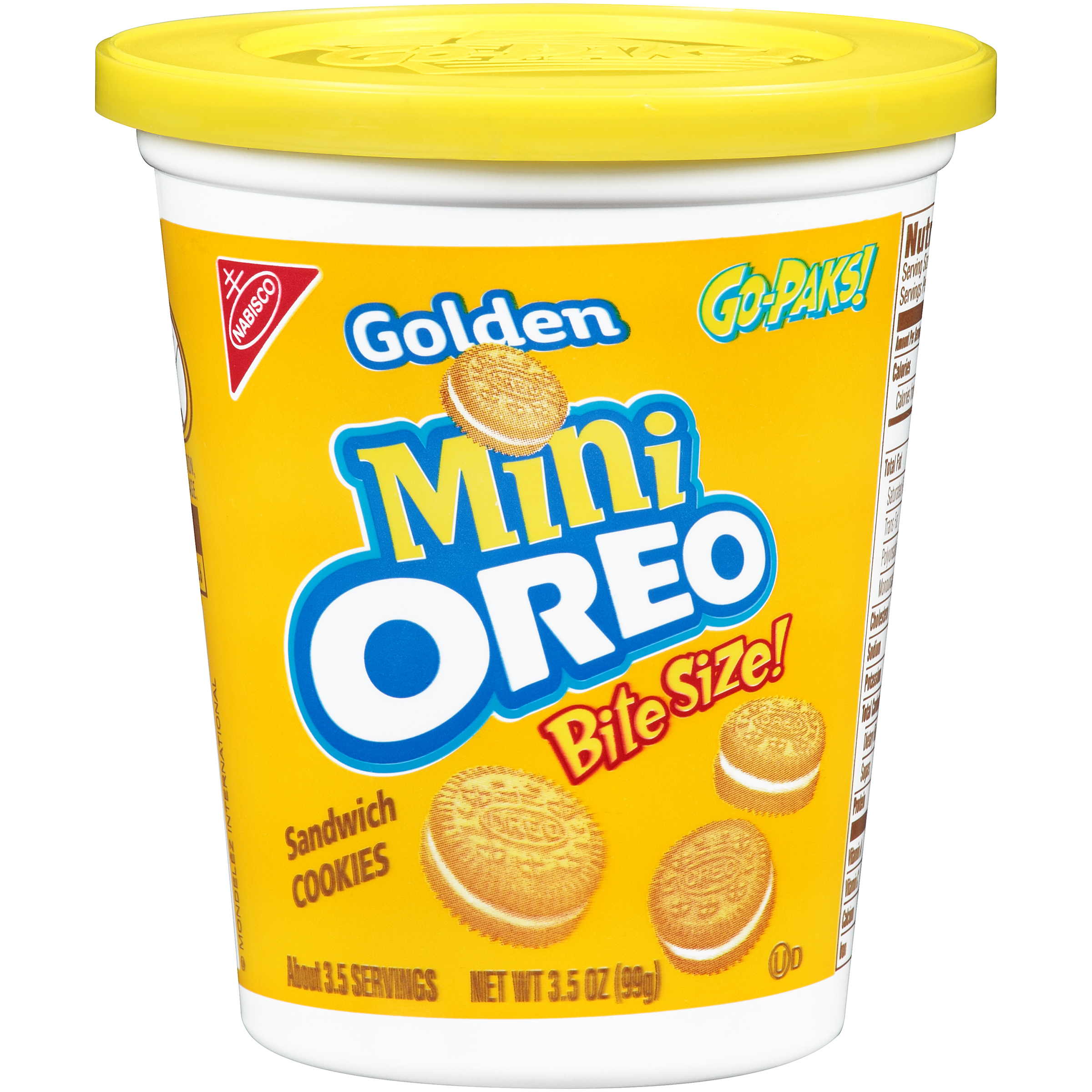 Nabisco Golden Mini Oreo Bite Size Sandwich Cookies, 3.5 OZ