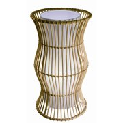 Bazz Vibe 16.75'' H Table Lamp with Drum Shade