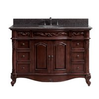 AVANITY  Provence 49-inch Vanity Combo in Antique Cherry Finish with Imperial Brown Granite Top