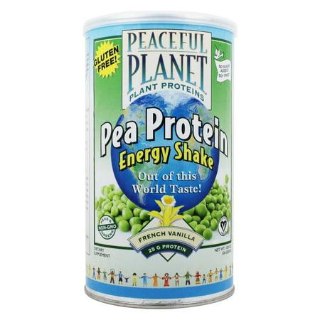 Veglife   Peaceful Planet Pea Protein Energy Shake Unsweetened French Vanilla   18 9 Oz