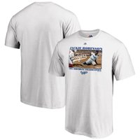 Brooklyn Dodgers Majestic 2019 Jackie Robinson Day 100th Birthday Vintage T-Shirt - White