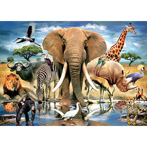 """Jigsaw Puzzle 204 Pieces 4""""X6""""-World's Smallest-African Oasis"""