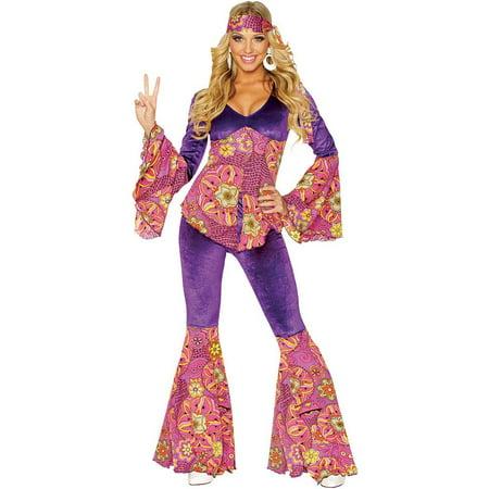 Purple Power Hippie Adult Costume