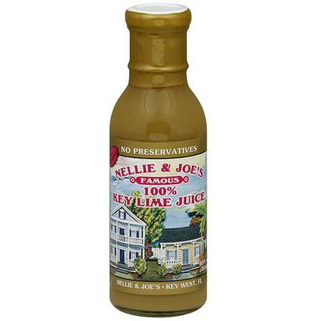 Nellie & Joe's 100% Juice, Key Lime, 12 Fl Oz, 12