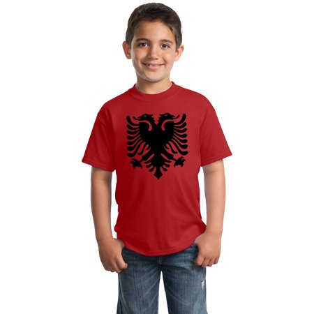 Albanian National Flag | Albania Pride Eagle Youth T-shirt (Albanian Eagle)