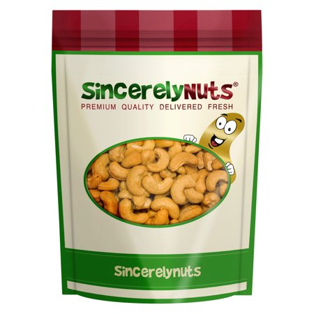 Sincerely Nuts Jumbo Cashews Roasted Salted 1 LB Bag