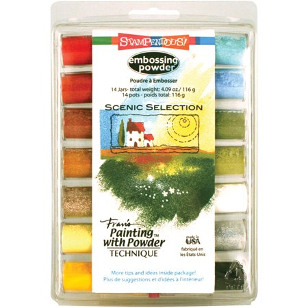 Stampendous Embossing Powder Selection 14/pkg, Scenic, Multi (Best Ink For Embossing Powder)