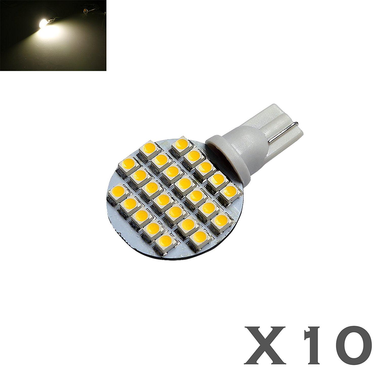 2x T10//921//194 White RV Trailer Interior 12V LED Light Bulbs 24 SMD