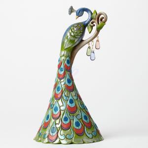 Jim Shore Figurine Peacock/Spring Wond