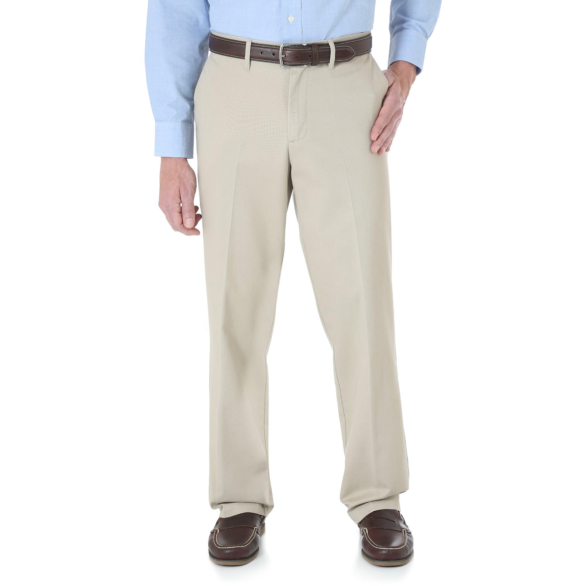 Wrangler Men's No Iron Flat Front Casual Pant - Walmart.com