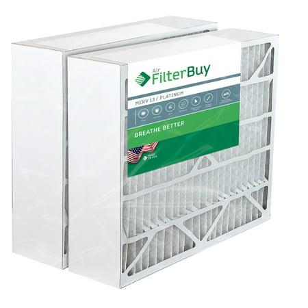 2 - 20x25x6 Aprilaire Space Gard 201 Alternative Pleated AC Furnace Air Filters. AFB Platinum MERV