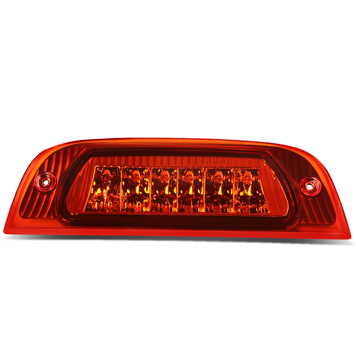 For 02 07 Jeep Liberty Kj High Mount Led 3rd Third Tail Brake Light Rear Stop Lamp Red Housing 03 04 05 06