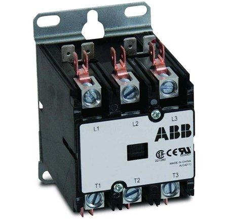 ABB DP40C3P-C 40 Amp, 3 Pole 277V Coil, Definite Purpose Contactor