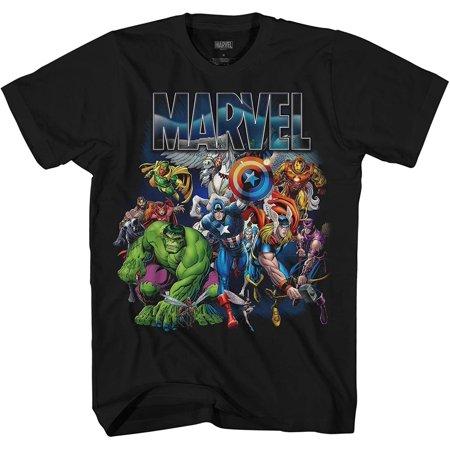 Marvel with Wings Thor Hulk Iron Man Avengers Spiderman Daredevil Strange Loki Thanos Adult Mens Graphic Tee T-Shirt Apparel… Strange Brew T-shirt