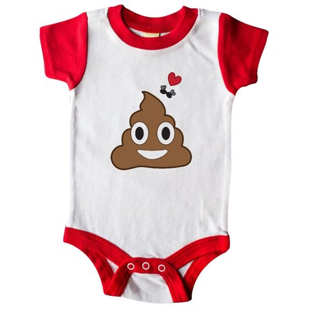 Valentine's Day Love Poop Emoji and Flies Infant Creeper