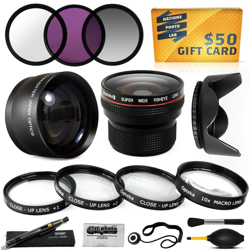 15 Piece Macro Fisheye Telephoto Lens Filters Set for 40.5MM Sony 5000 A6000 NEX 6 6L 5T 5TL 3N 3NL NEX6 NEX-6... by Opteka