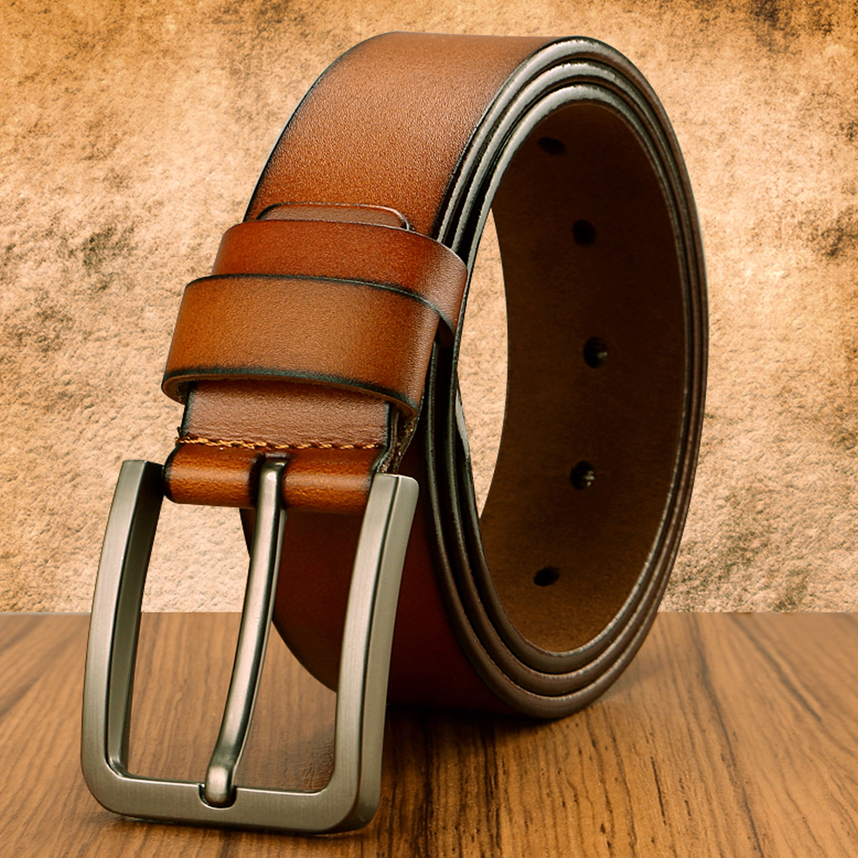 New Men genuine leather belts vintage style male strap classic jeans leather belts for men 051