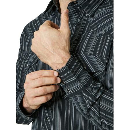Wrangler Men's Long Sleeve 2 Pocket Western Shirt