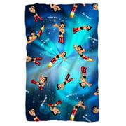 Astro Boy Pattern Poly 36X60 Blanket White One Size