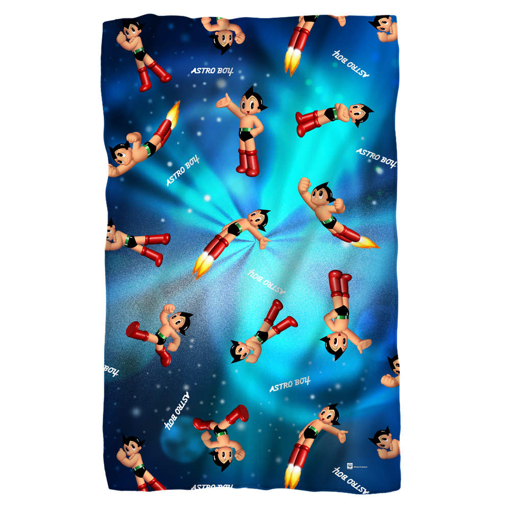Astro Boy Pattern Poly 36X60 Blanket White One Size