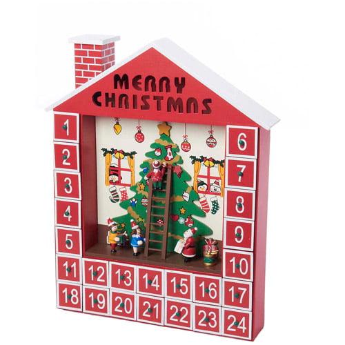 """Kurt S. Adler 15"""" Wooden Advent Calendar House"""
