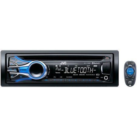 JVC KDS79BT USB/CD Receiver with Bluetooth, Dual USB Ports and iPhone/iPod on